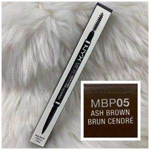 4/$20 NYX Micro Brow Pencil & Brush MBP05 Ash Brow